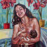 L'accouchement, moment riche en émotions,  sublimé par Amanda Greavette