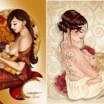 L'allaitement maternel illustré par Tania Garcia (Taniarts création)