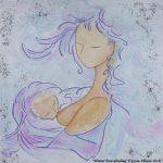 La maternité vu par Gioia Albano, Artiste peintre originaire de Milan
