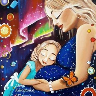 La maternité sous le pinceau Alena Kalchanka   Cocoon Bien Naître