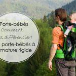 Les porte-bébés : comment les différencier? – Les porte-bébés à armature rigide