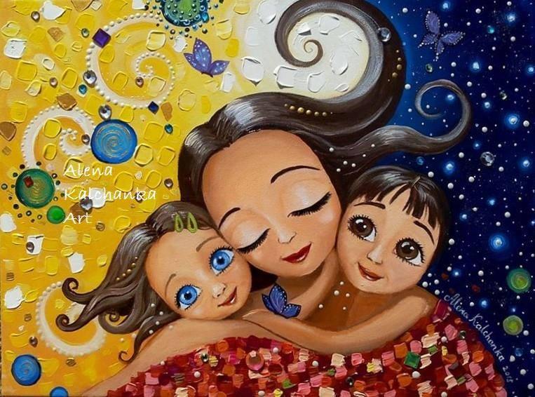 La maternité sous le pinceau Alena Kalchanka | Cocoon Bien Naître