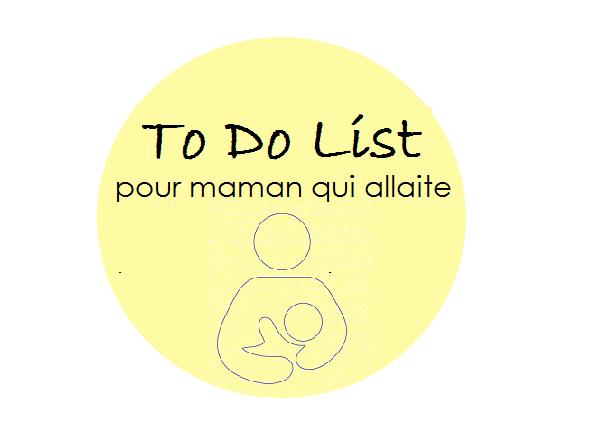 To Do List pour maman qui allaite | Cocoon Bien Naître
