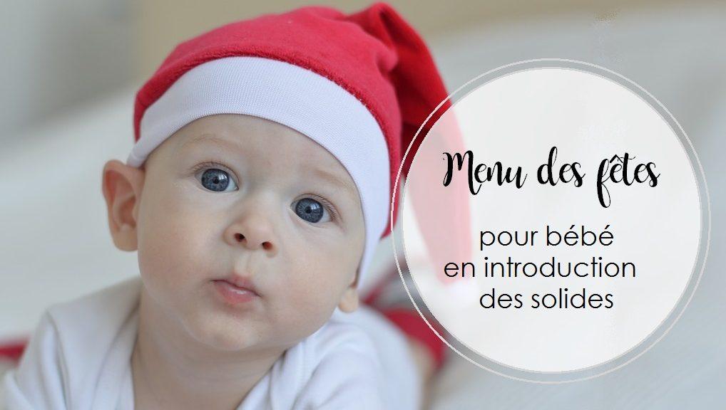 Menu des fêtes pour bébé en introduction des solides | Cocoon Bien Naître | DME