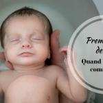 Premier bain de bébé: quand et surtout comment