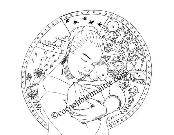 illustration de grossesse | Symbiose | Cocoon bien naître