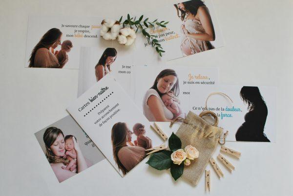 cartes bien-naître photos | affirmations positives accouchement | cocoon bien naître